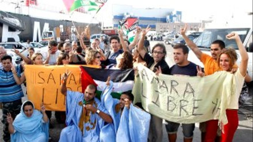 Recibimiento a los activistas. (ACFI PRESS)