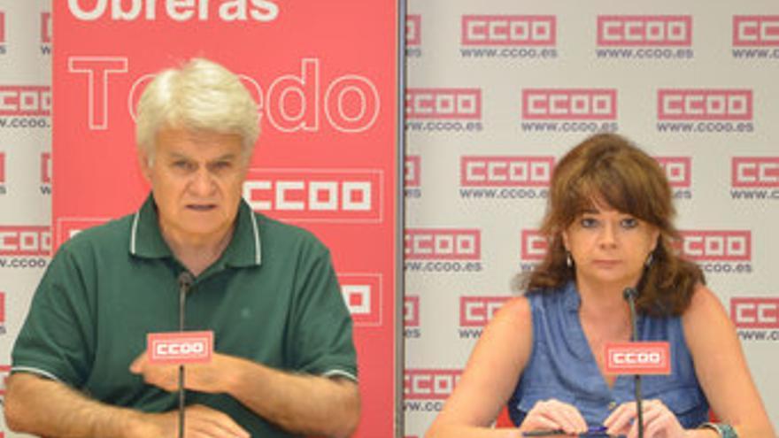 José Luis Gil y Lola Santillana / Foto: CCOO-CLM