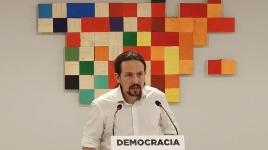 """Iglesias exige al PSOE que rectifique con una moción su """"grave error"""" de apoyar a un Gobierno de """"violentos"""""""