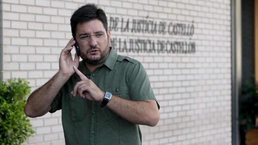 Ignacio Blanco a las puertas de la Audiencia de Castellón