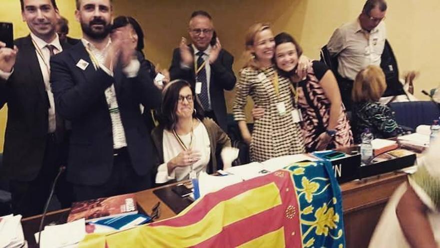 La delegación valenciana en Addis Abeba celebra el reconocimiento de la Unesco
