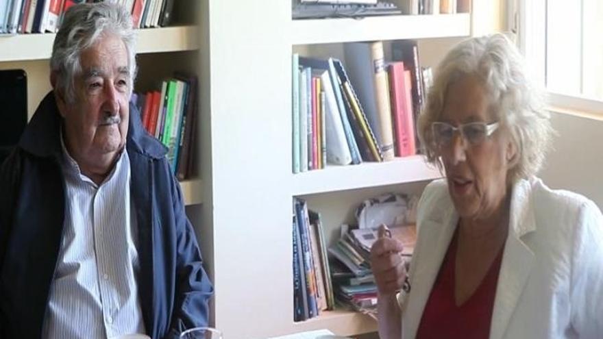 Carmena y José Mujica vuelven a coincidir en Madrid y ofrecen una rueda de prensa este lunes