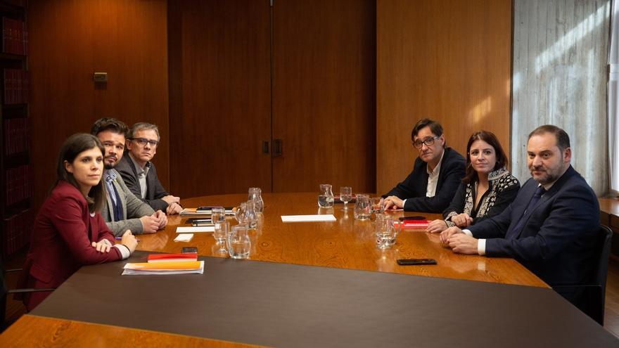 """El PSOE y ERC constatan """"avances en la definición de instrumentos para encauzar el conflicto"""""""