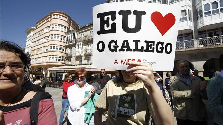 """Protestas para una """"Galicia con futuro"""" que emplee su lengua propia"""