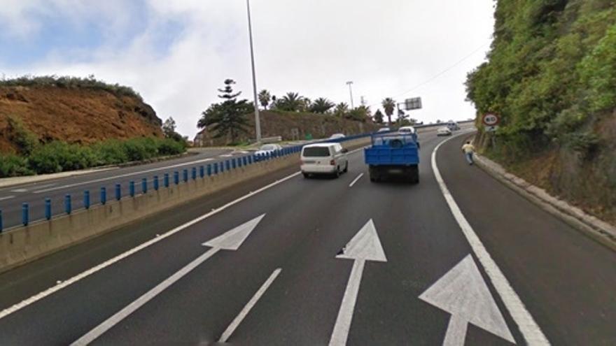 Curva de El Sauzal, uno de los puntos más conflictivos de las carreteras de Tenerife