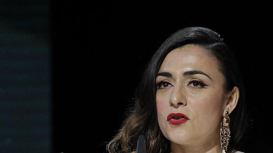 Candela Peña recoge su Goya a mejor actriz de reparto (EFE)