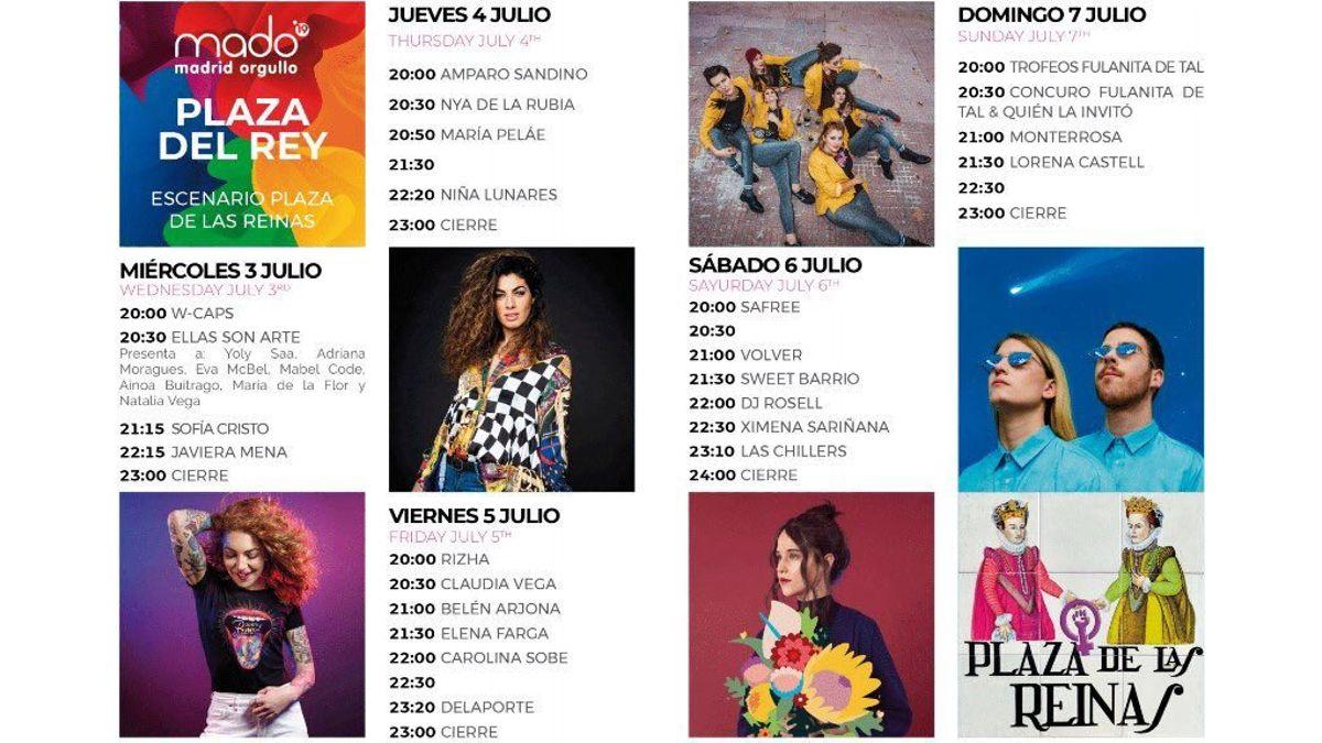 Programa del escenario de la Plaza del Rey MADO 2019 | MADO