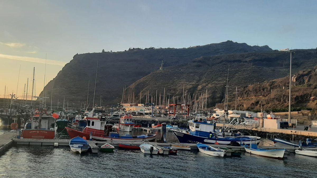 Imagen  de archivo  del muelle pesquero del Puerto de Tazacorte.