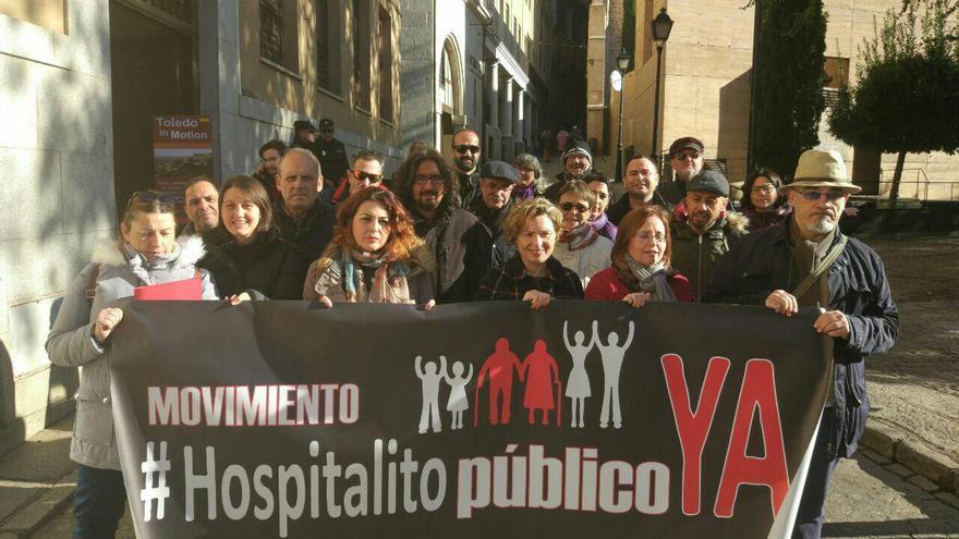 Marcha del movimiento '¡Hospitalito Ya!' hasta el Palacio de Fuensalida