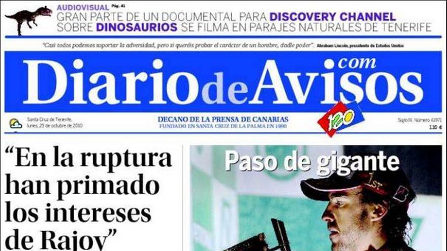 De las portadas del día (25/10/2010) #2