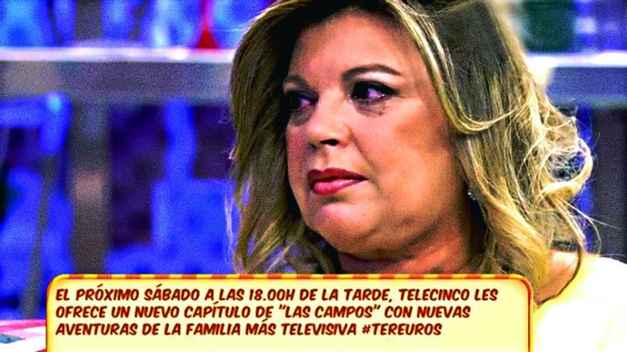 Lágrimas de Terelu en 'Sálvame' por el adiós de 'QTTF' en Telecinco