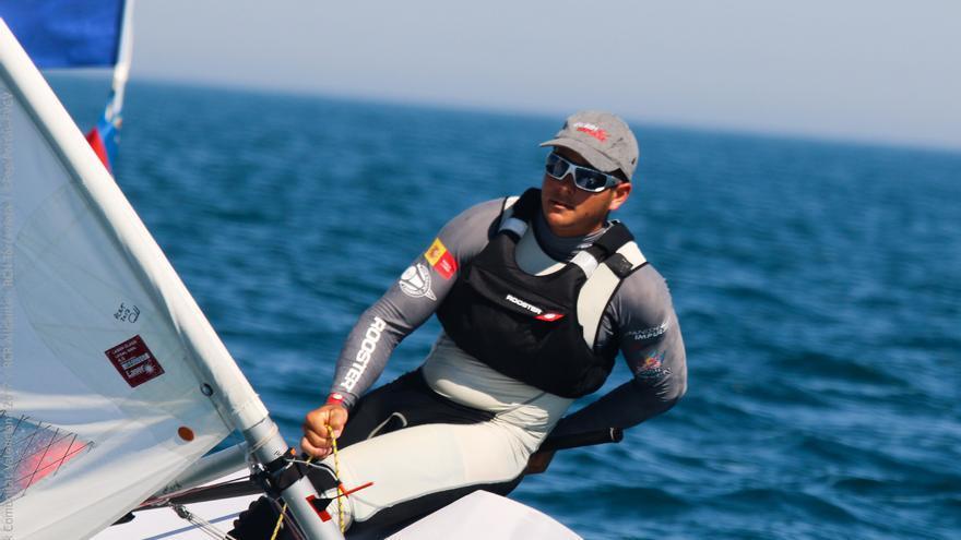 Joel Rodríguez durante la Olympic Week dispuatada en Torrevieja.