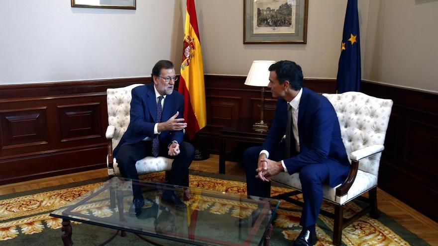 """Sánchez, tras su encuentro con Rajoy: """"Era una reunión perfectamente prescindible"""""""