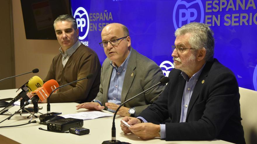 Baltar, este viernes en la presentación de la campaña del PP en Ourense