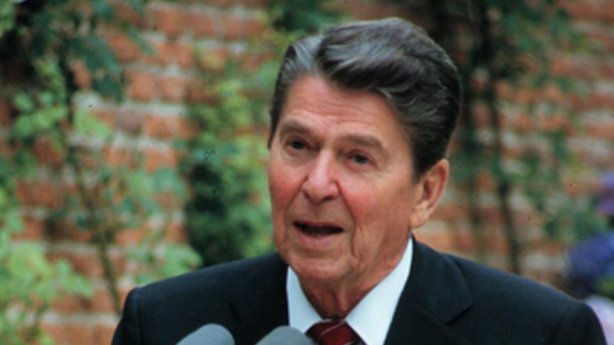 El ex presidente de los Estados Unidos Ronald Reagan