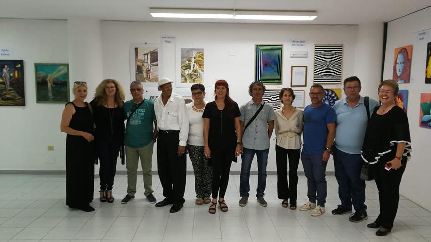 Miembros del colectivo de artistas Aunarte.
