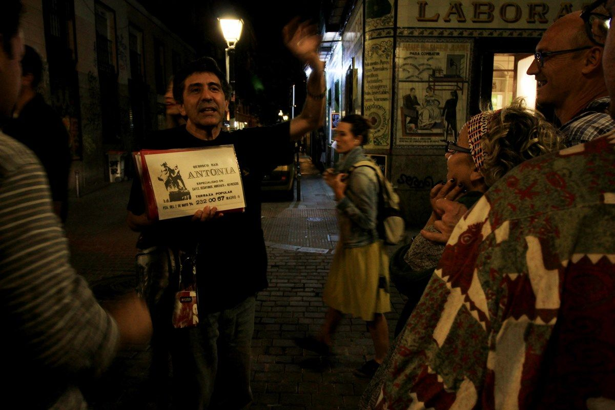 Juan Carlos González, hablando del kiosko de la Tía Antonia | RAQUEL ANGULO