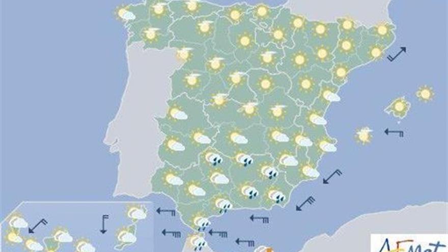Tiempo estable hoy en casi toda España, con temperaturas en ascenso