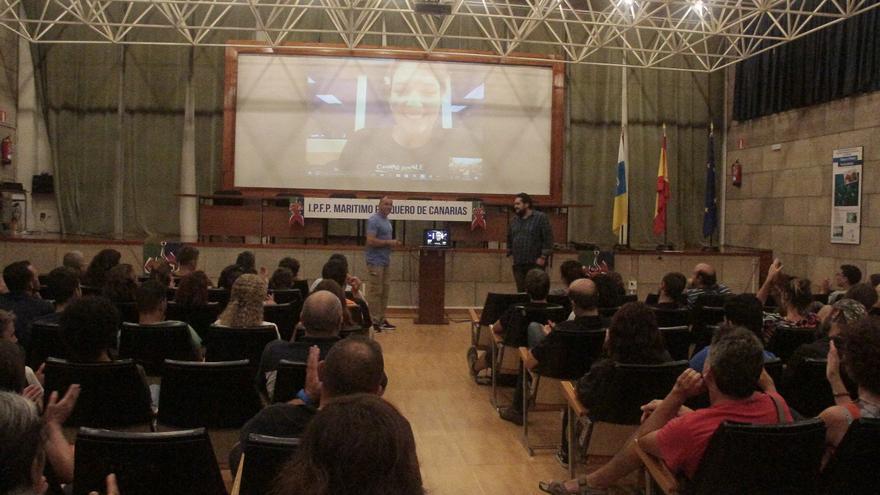 Videoconferencia de Mar Vaquero con la Escuela de Pesca de Lanzarote