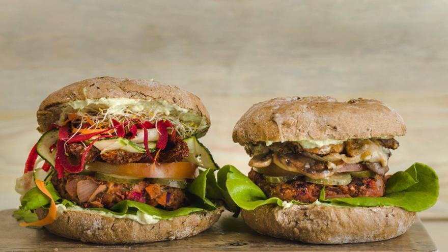 Restaurantes veganos Madrid - Viva Burger