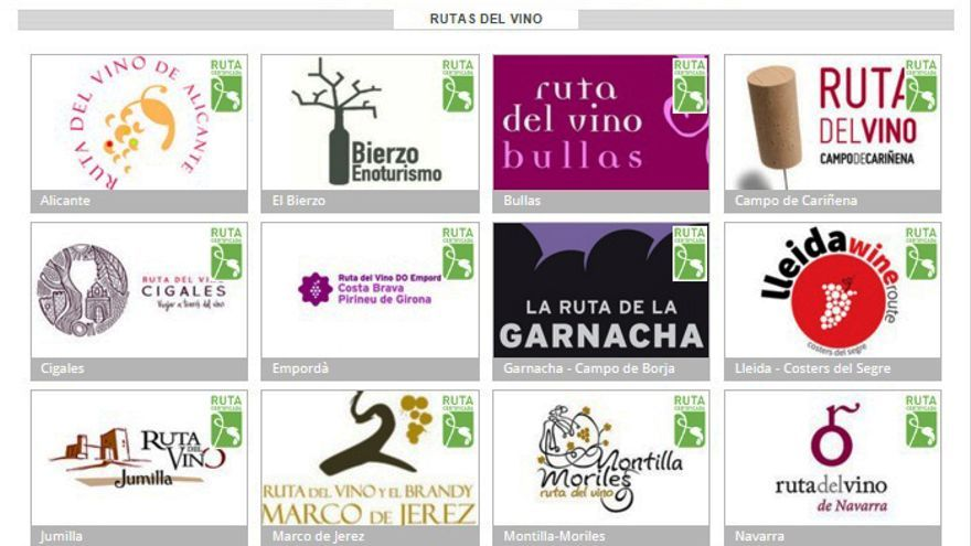 Las 24 rutas del vino con calidad certificada que hoy existen en España.