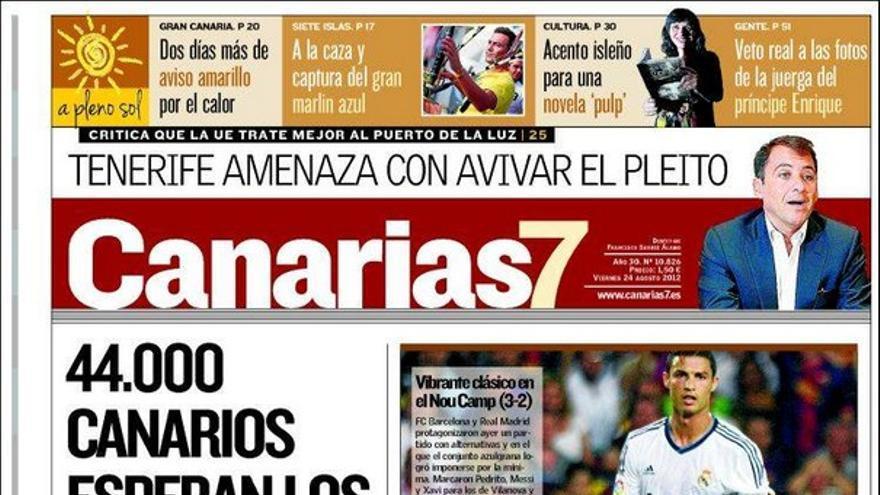 De las portadas del día (24/08/2012) #1