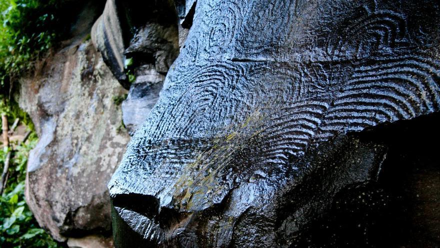 El Rosetón, uno de los paneles más complicados de La Zarza y La Zarcita. VIAJAR AHORA