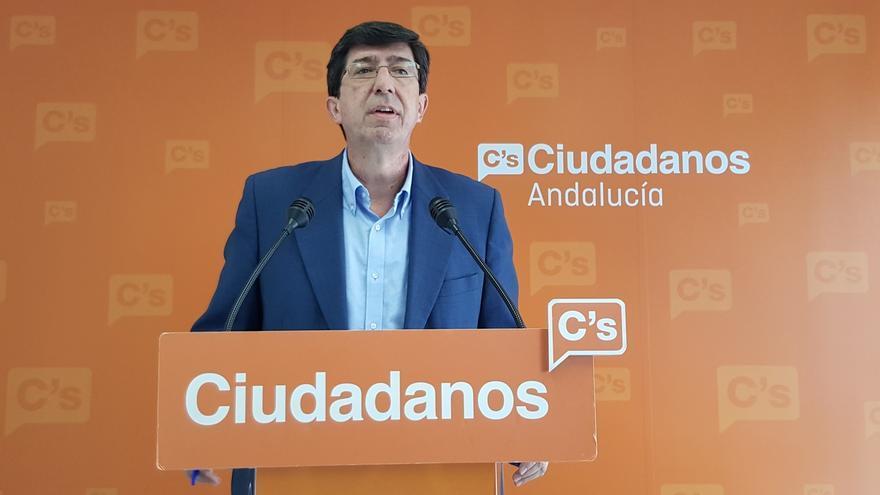 """Juan Marín cree que si Susana Díaz hubiera alzado la voz """"con más fuerza"""" en su partido """"hoy tendríamos Gobierno"""""""