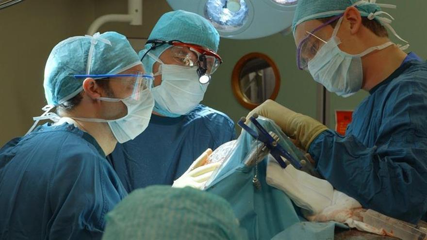 Médicos de EE.UU. extraen un tumor a un bebé cuando aún estaba unido a la placenta