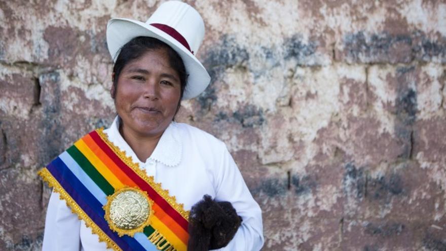 Yoni Hinojosa, es la primera alcaldesa de Chacán, un municipio rural de Perú. Foto: Salva Campillo/AeA