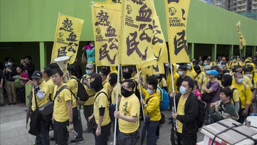 Detenidas 33 personas en protestas contra comerciantes chinos en Hong Kong