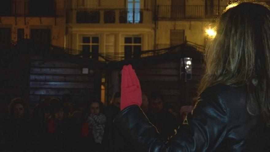 Una imagen de la concentración. Foto: Navarra Televisión