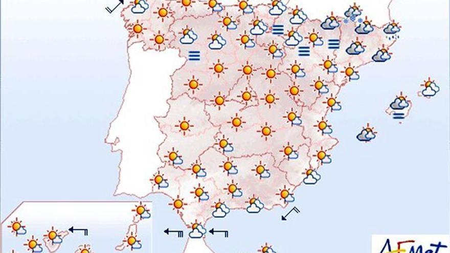 Hoy, suben las temperaturas en Cantábrico, alto Ebro y Castilla y León