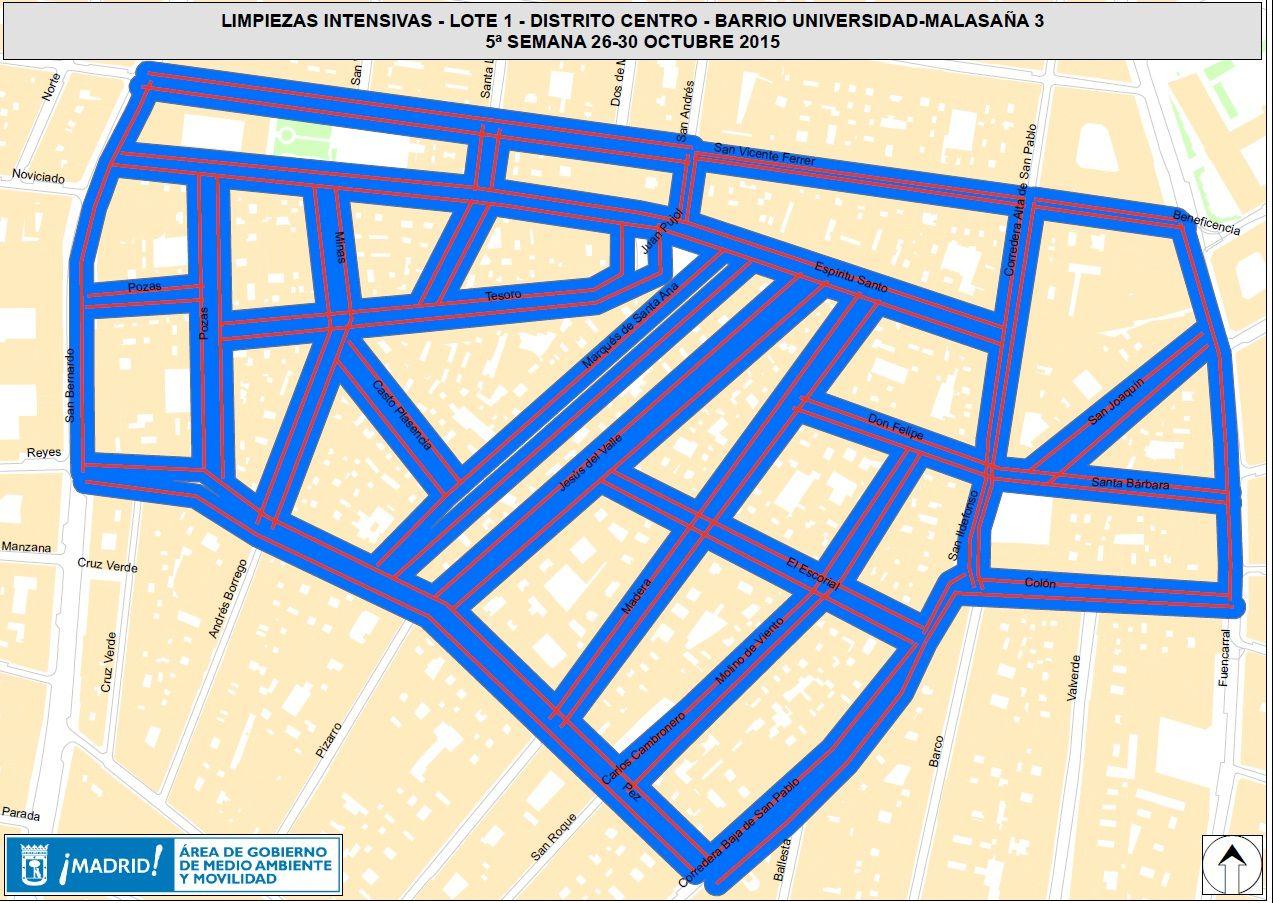 Calles a las que afectará el tercer plan de limpieza en Malasaña | AYUNTAMIENTO DE MADRID
