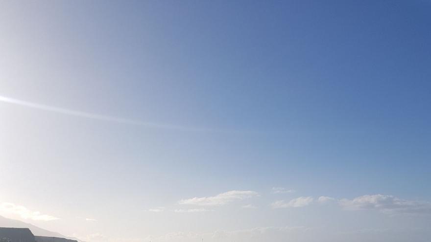 En la imagen, playa del Puerto de Tazacorte, este domingo.