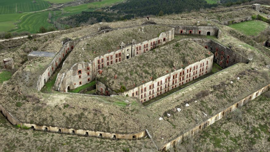 Imagen aérea del fuerte de Ezkaba.