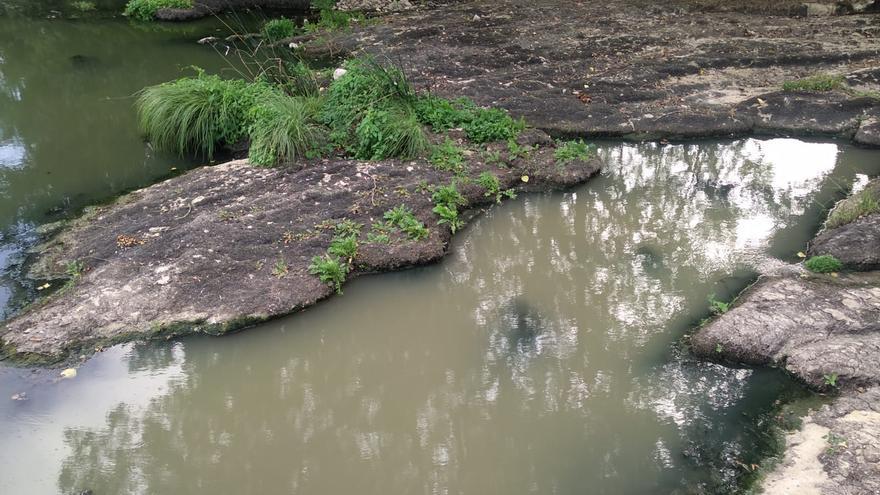 Las aguas del río Baias, enturbiadas