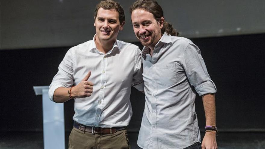 Iglesias y Rivera pisarán mañana por primera vez el hemiciclo del Congreso