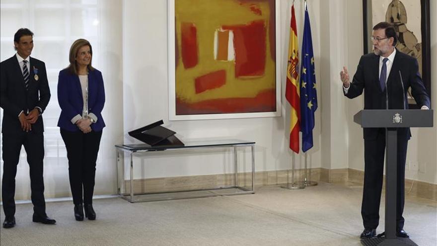 Rajoy ratifica su optimismo ante el reto del empleo en el Día del Trabajo