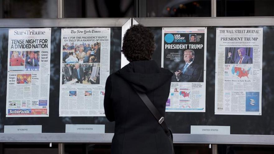 """El NYT habla de la """"revuelta"""" de Trump y el WSJ de un """"terremoto político"""""""