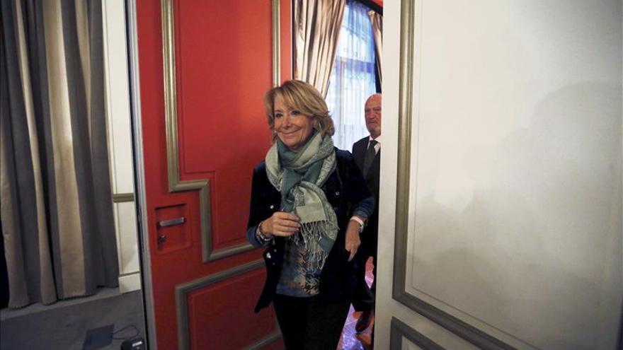 """Aguirre critica que el PP apoye el Estado palestino, una """"hostilidad"""" a Israel"""