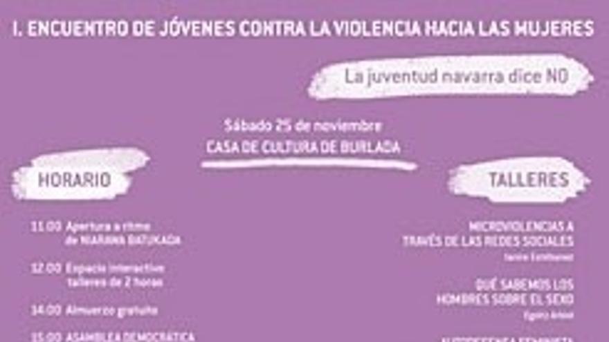 Burlada acoge este sábado el I encuentro de jóvenes contra la violencia hacia las mujeres