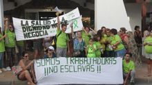Protesta de Las Kellys en un hotel de Lanzarote