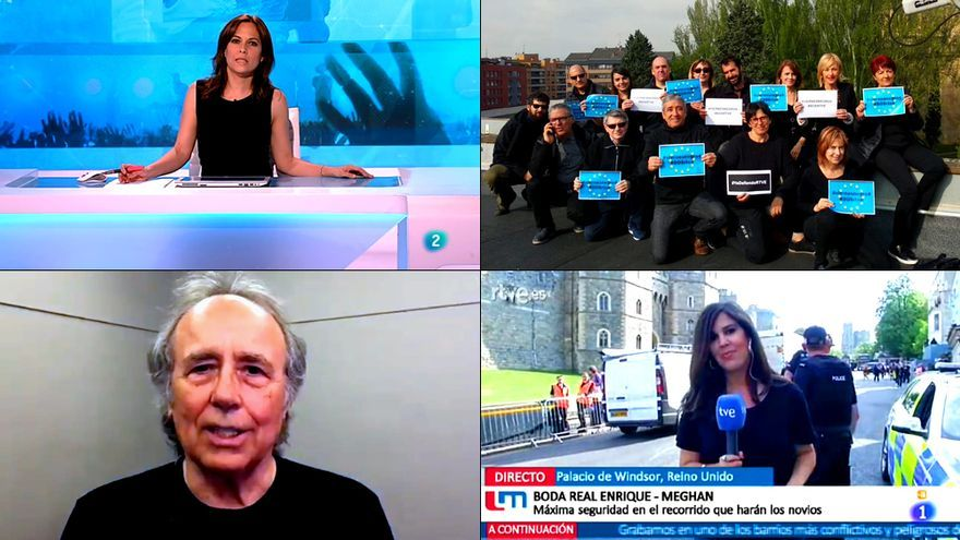 Imágenes del cuarto viernes negro por la independencia de RTVE