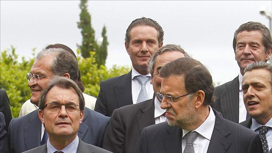 Rajoy y Mas hablan sobre el déficit y los presupuestos catalanes en Barcelona