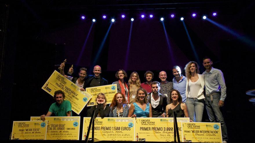 Los ganadores del XIV Concurso Circuito Café Teatro San Miguel Valencia
