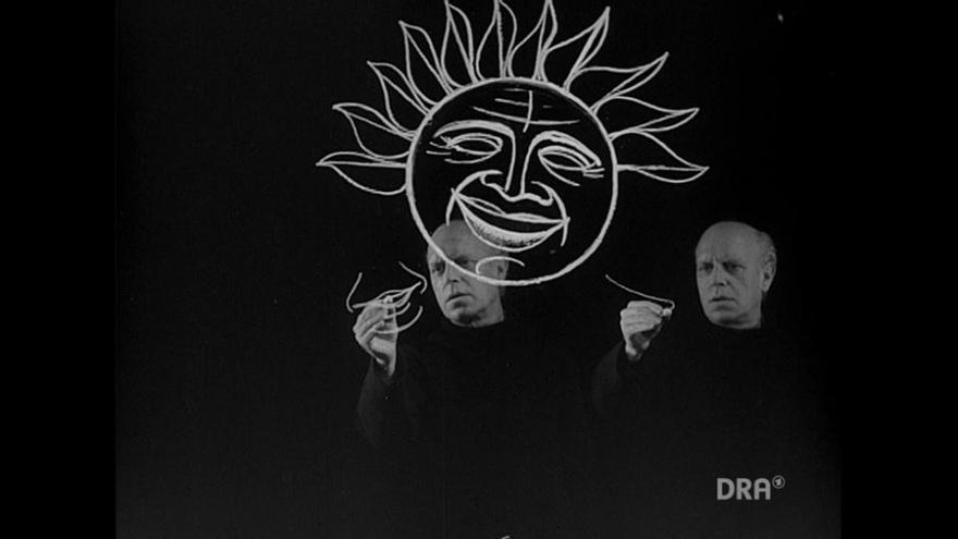 'Zeitgezeichnet 1: Eine furchtbare Wüste'[Actualidad dibujada 1: un desierto fértil]. Película, 1958. Deutsches RundFukarchiv (DRA)