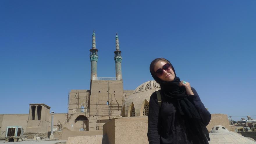 Marina Díaz está concluyendo su trabajo de investigación sobre Irán