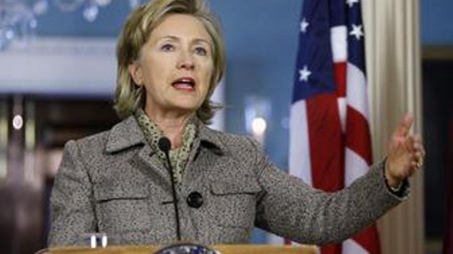 La secretaria de Estado norteamericana, Hillary Clinton