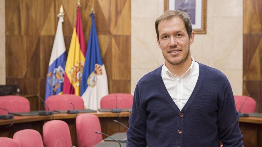 Mariano Hernández Zapata, consejero del  grupo Popular en el Cabildo de La Palma.